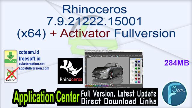 Rhinoceros 7.9.21222.15001 (x64) + Activator Fullversion