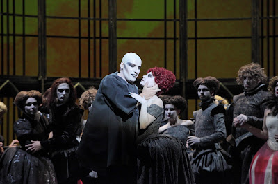 Gounod: Faust - Andreass Bauer (Mephistopheles) & ensemble (Photo: Agnese Zeltina (c) Latvian National Opera and Ballet)