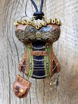 steampunk, necklace, naszyjnik, cyberpunk, goth, victorian, etsy, mixmedia