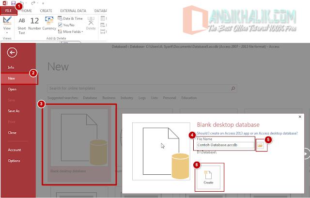 Membuat Tabel dan Memahami Jenis Data di Access