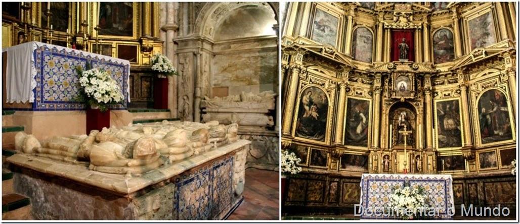 Túmulo de Alonso Jofre Tenorio e retábulo da igreja, Mosteiro de Santa Clara, Lugares columbinos, Moguer, Espanha