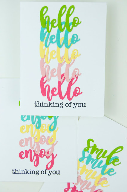 Reptitive Die Cut Greeting Card Set by Jen Gallacher for www.jengallacher.com #echoparkpaper #jillibeansoup #diecutting #cardmaker #stamping