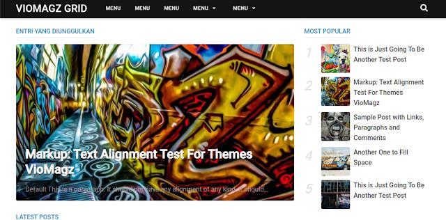 Gratis Download Template Blogger Viomagz Grid - Redesigns Viomagz