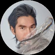 Ben Liu, portrait of artist, fashion illustrator selfportrait. montreal artist