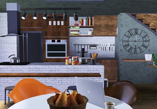 cuisine loft sims 3