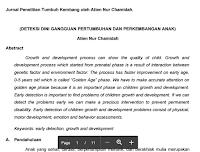 Artikel Jurnal Tumbuh Kembang Anak Usia Dini Pdf Download ( Deteksi Dini Gangguan Pertumbuhan Dan Perkembangan Anak )