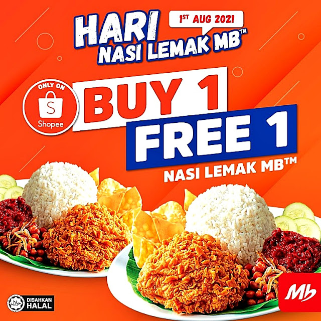 MARRYBROWN Hari Nasi Lemak MB With BUY 1 FREE 1 Offer