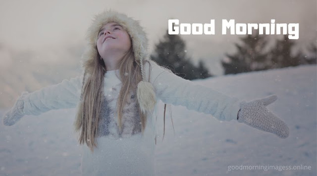 good morning images with snowfall, good morning cold images, winter good morning gif images, good morning winter season images,  good morning cold weather images