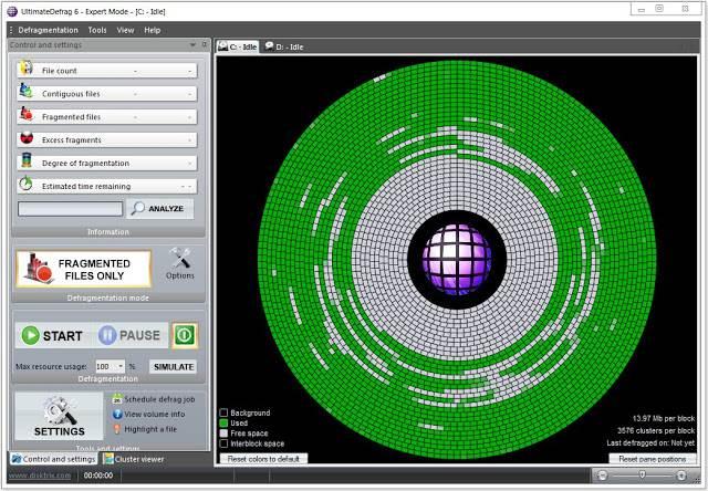 Screenshot DiskTrix UltimateDefrag 6.0.34.0 Full Version