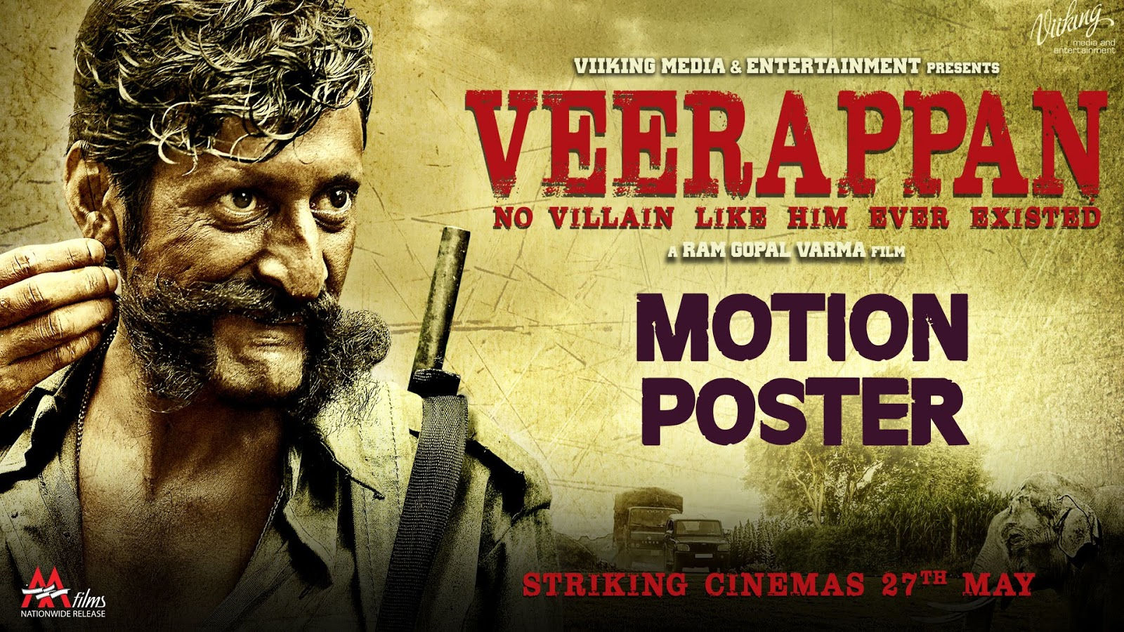 Complete cast and crew of Veerappan  (2016) bollywood hindi movie wiki, poster, Trailer, music list - Sandeep Bharadwaj and Sachiin J Joshi, Movie release date 27 May, 2016