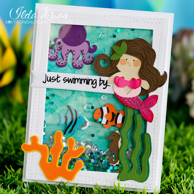 cardmaker,#SVGCuts,Silhouette Cameo,papercrafting,SVG Cuts file,ilovedoingallthingscrafty,Simon Says Stamp,Under the Sea Shaker Birthday Card,Birthday Card,dies,my favorite things,
