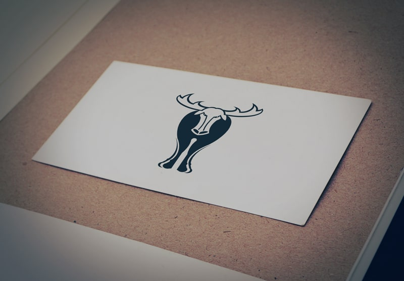 Download Free Deer with Big Horn Logo for Business