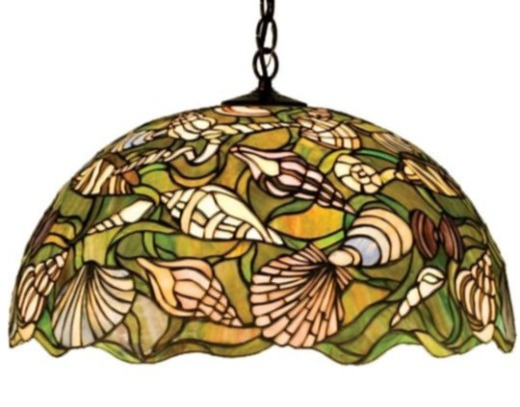 Stained Glass Shell Pendant Light