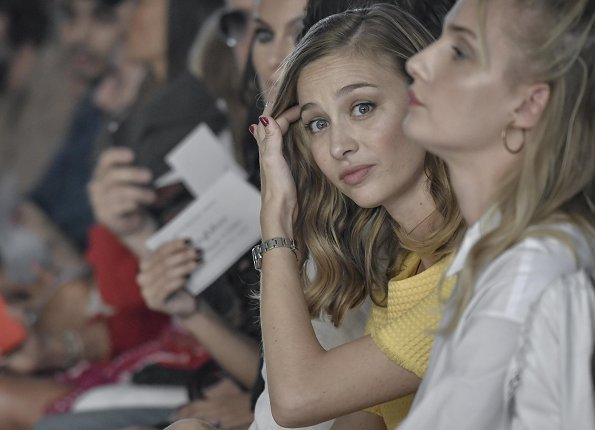 Beatrice Borromeo Casiraghi attended Byblos Women Spring Summer 2019 fashion show at Milan Fashion Week