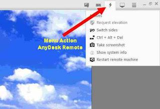 beberapa opsi action di anydesk remote