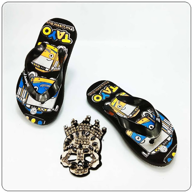 Sandal Karakter Anak Cowok- AMX Karakter Spon Anak- Grosir Sandal Murah