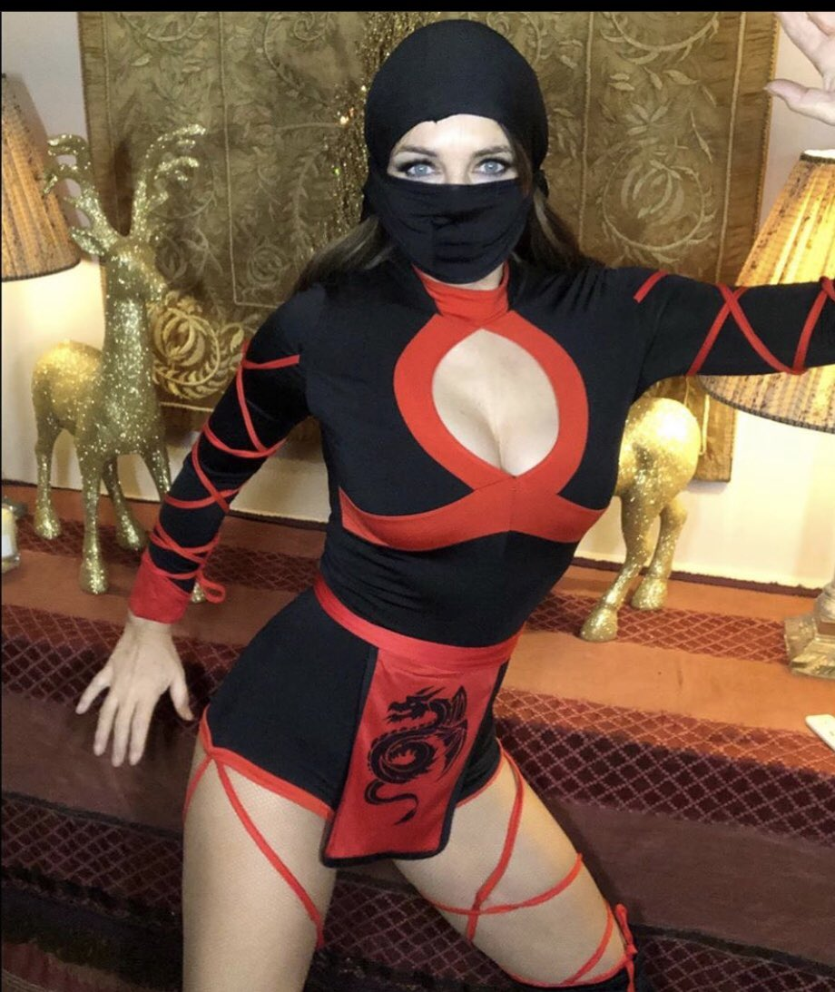 Elizabeth Hurley, 54, transforms into a VERY sexy ninja as she dons busty cut-out leotard and mask for sizzling snaps