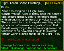 naruto castle defense 6.5 Eight-Tailed Beast Twister detail