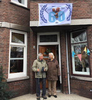 60-jarige huwelijk ouders vlag