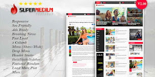 Supermedium V2.00 Responsive Blogger Template