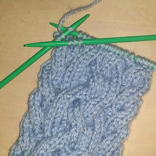 2本捻じりのケーブル編み, 2本捻じりの縄編み, basic cable knitting, 棒针编织2条麻花,