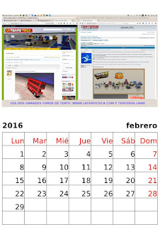 Calendario Supertuxkart 2016 - Carreras de Tentes