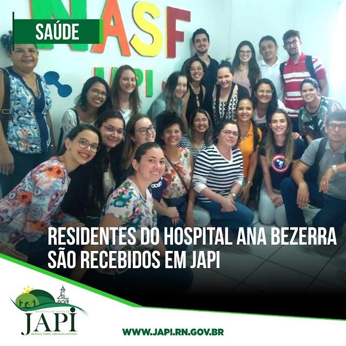 Secretarias de Saúde, Educação e Desenvolvimento Social de Japi recebem residentes do Hospital Universitário Ana Bezerra