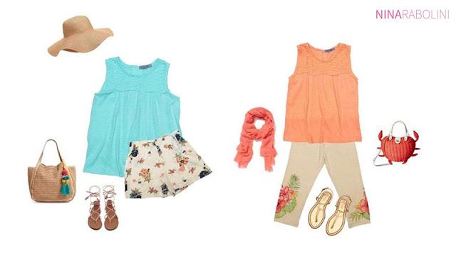 Moda primavera verano 2018 outfits de niñas.