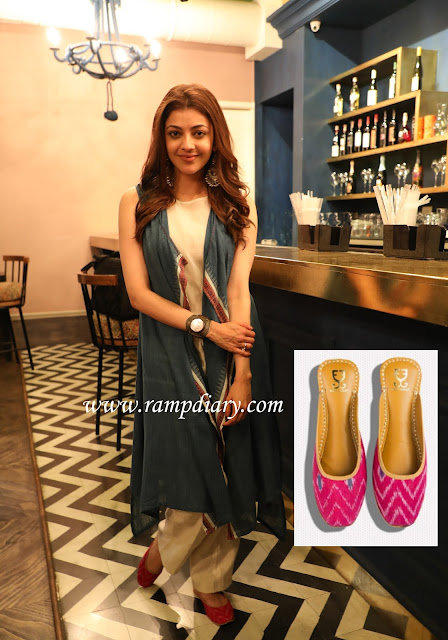 Kajal Aggarwal In Anita Dongre Grass Root and Fizzy Goblet Jutties
