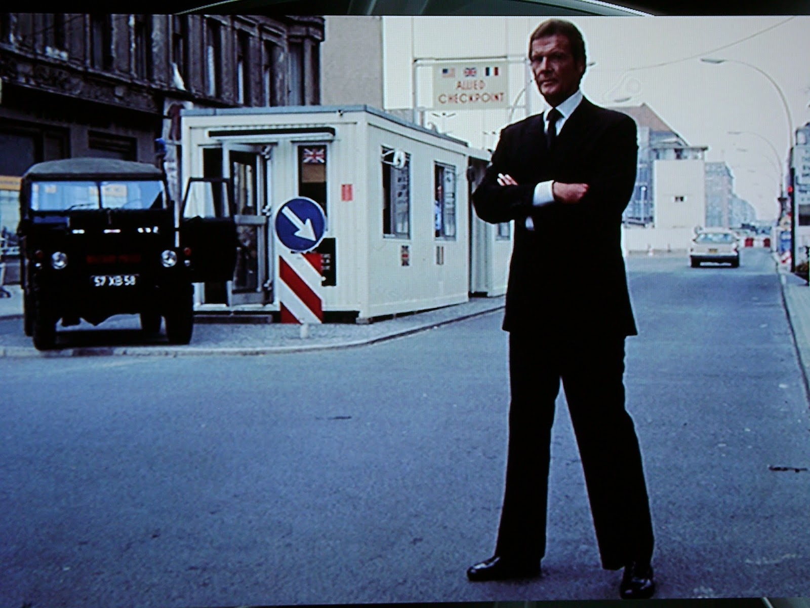 007 travelers 007 filming location checkpoint charlie octopussy 1983 publicity shot. Black Bedroom Furniture Sets. Home Design Ideas