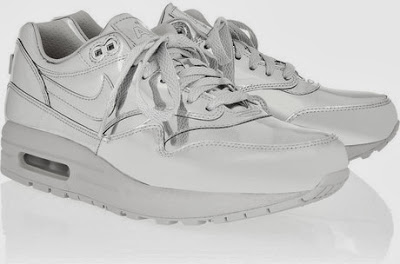 Nike Air Max Metallic Leather Sneaker Silver