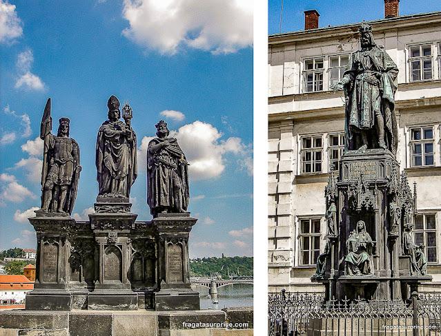 Estátuas da Ponte Carlos, em Praga