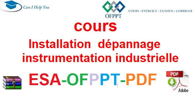 instrumentation industrielle Électromécanique des Systèmes Automatisées-ESA-OFPPT-PDF
