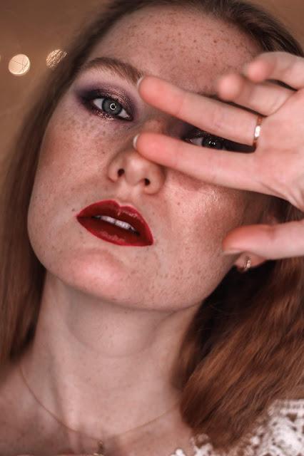 makijaż w fioletach