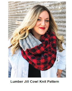 Buffalo Plaid Textured Knit Cowl Knitting Pattern