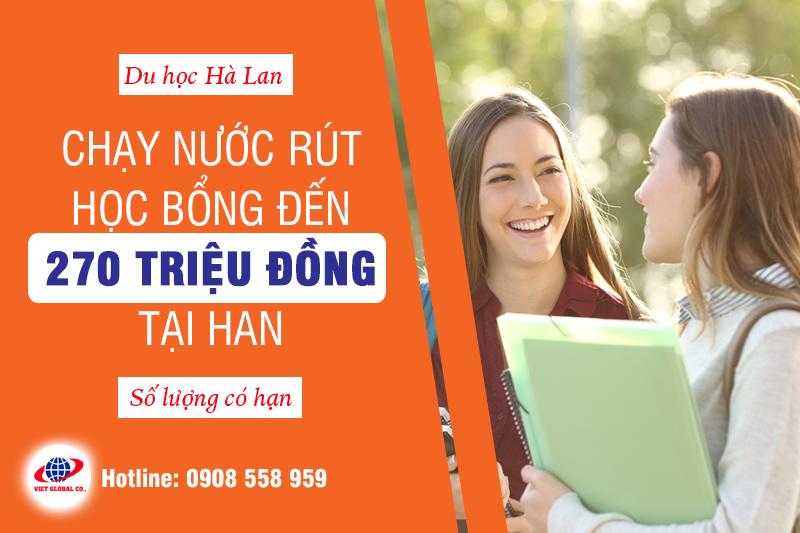 Chạy nước rút học bổng Hà Lan 270 triệu tại HAN University
