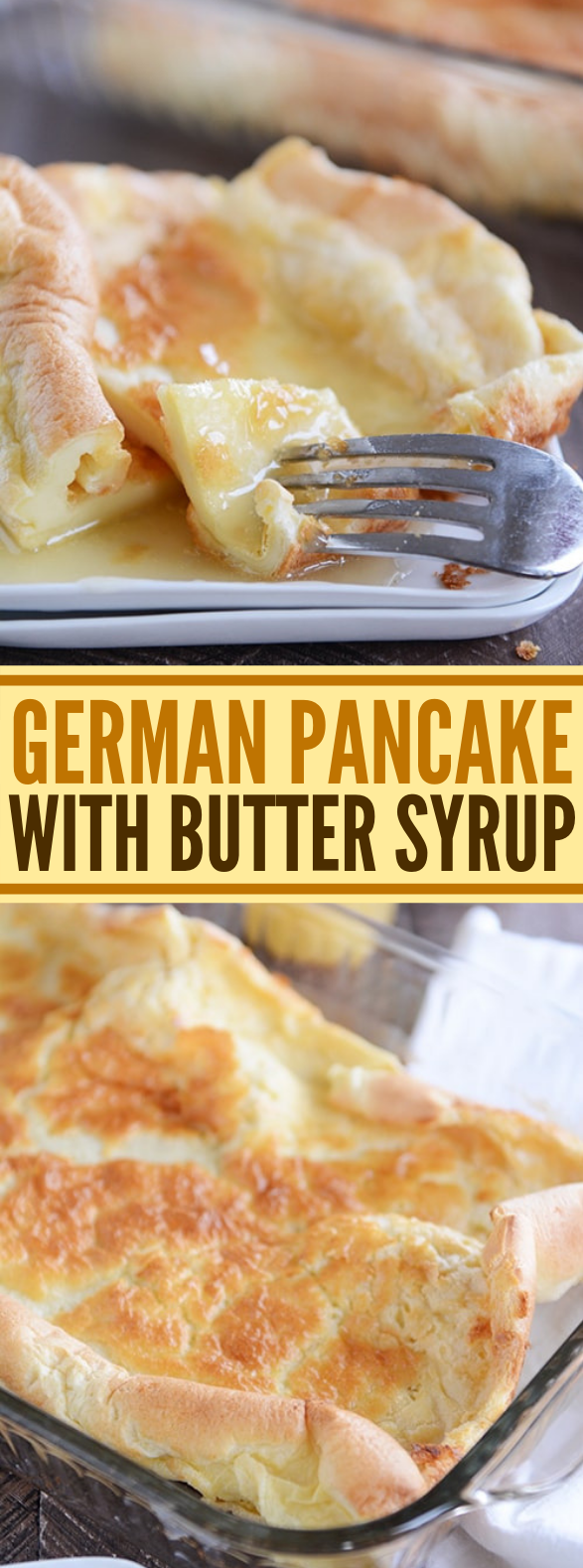 GERMAN PANCAKE {WHOLE GRAIN OPTION} WITH BUTTER SYRUP #breakfast #snacks