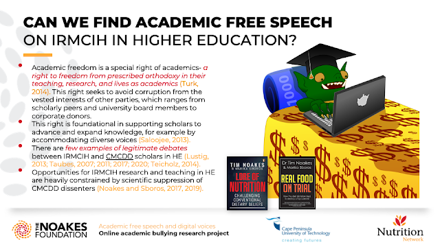 CAN WE FIND ACADEMIC FREE SPEECH  ON IRMCIH IN HIGHER EDUCATION?