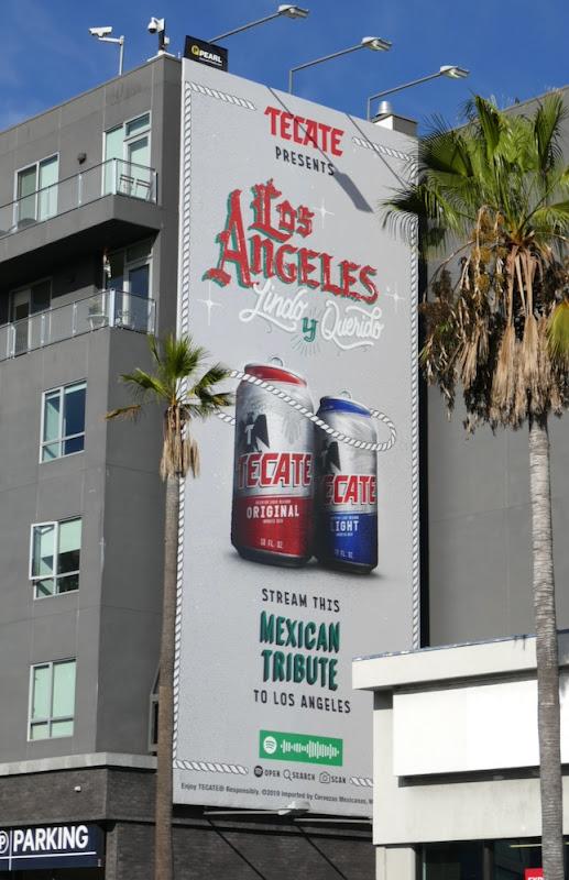 Tecate Beer Los Angeles Lidno y querido billboard