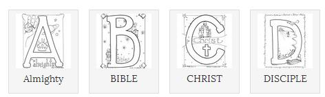 bible alphabet coloring pages - photo#25