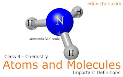 CBSE Class 9 - Chemistry - Chapter: Atoms and Molecules (Important Definitions) (#class9Chemistry)(#cbsenotes)(#eduvictors)(#class9Science)