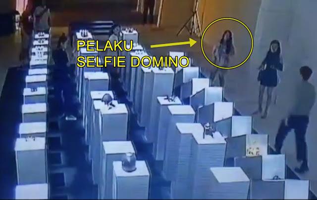 Sudah Lihat Video Insiden Selfie Domino Yang Lagi Viral ???