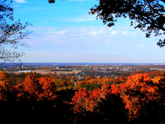 Brownstown, Indiana From Skyline Drive