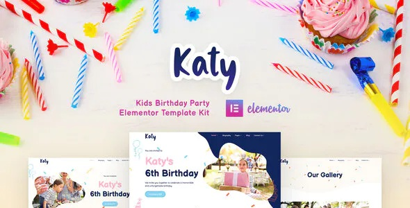 Best Kids Birthday Party Planner and Invitation Elementor Template Kit