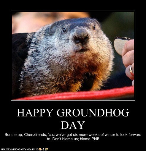 8 speak of the devil attack of the groundhogs,Funny Groundhog Meme