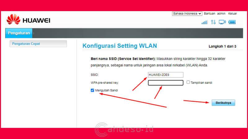 Mengganti Password Wifi dan Password Halaman Admin MiFi Huawei