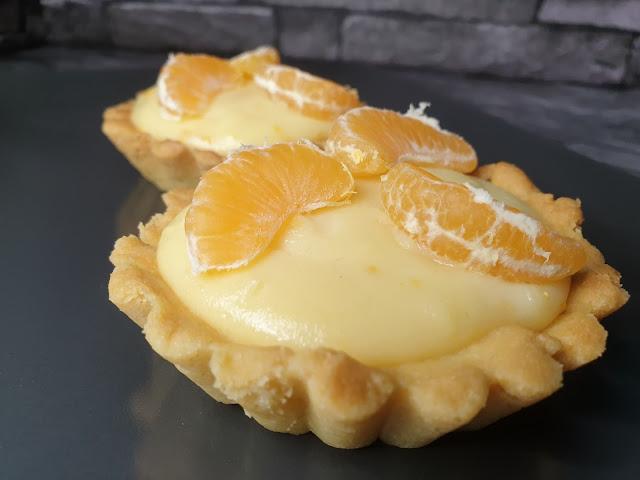 Tartaletki z kremem mandarynkowym