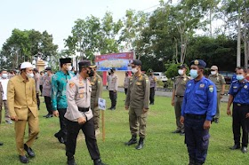Ketua DPRD Muaro Jambi Hadiri Apel pergeseran pasukan Pengamanan PSU Polres Muaro Jambi