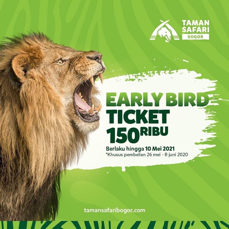 Promo Taman Safari Bogor - Beli Tiket Early Bird Harga Cuma Rp 150Ribu!