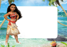 Moana Free Printable Invitations, Labels or Cards.